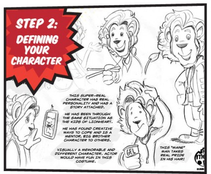 Step 2: Defining your character