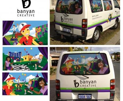Artwork on Van